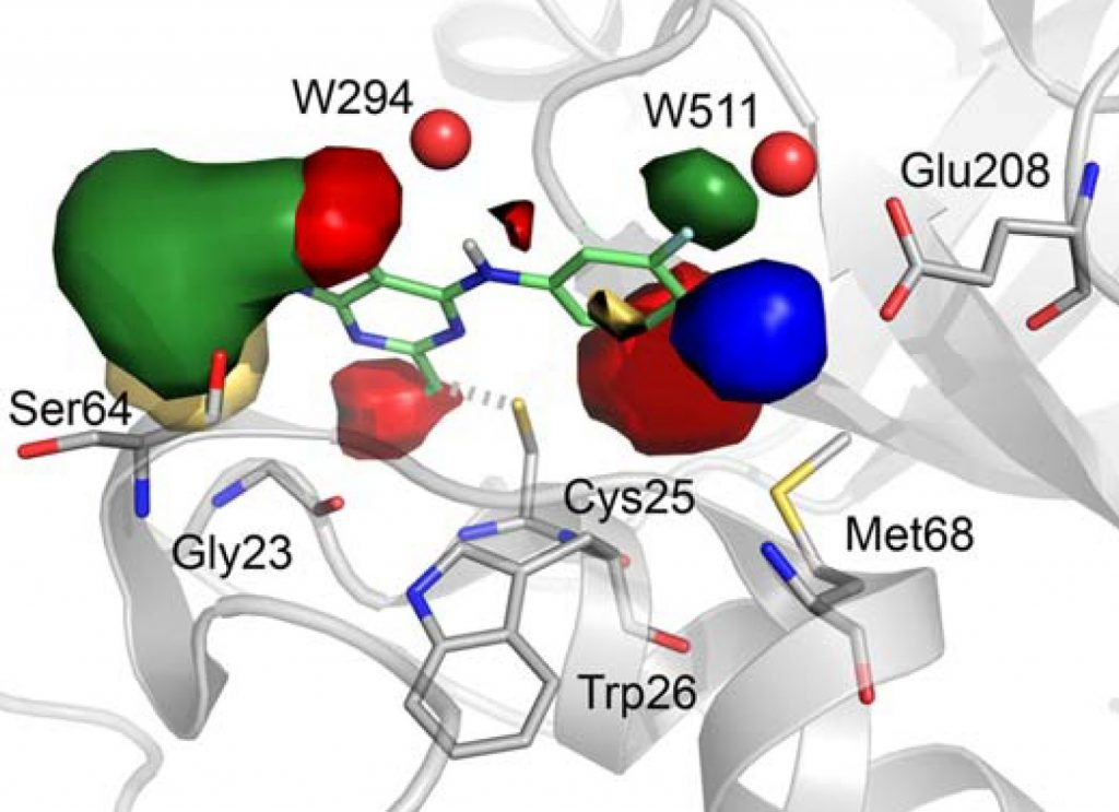 a-white-protein-displaying-molecular-fields