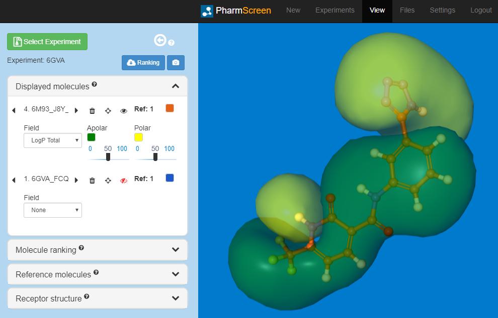 PharmScreen molecular fields visualization