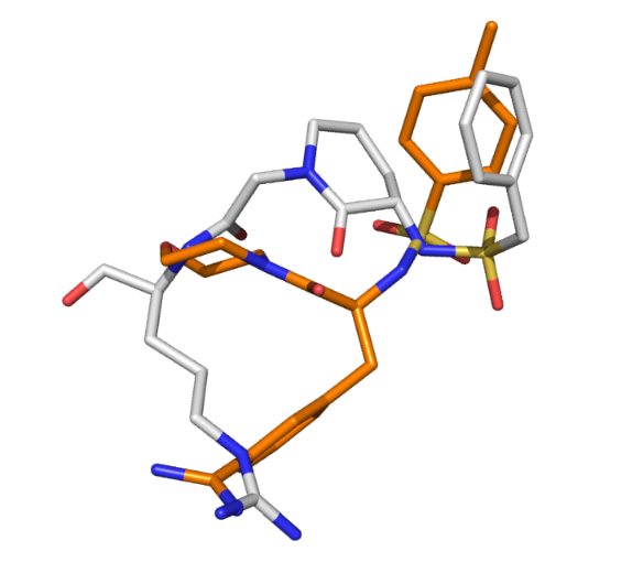 a-grey-and-a-orange-molecule-superimposed
